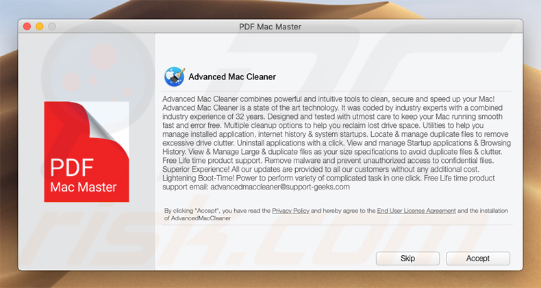 advanced mac cleaner with free mcafee internet security