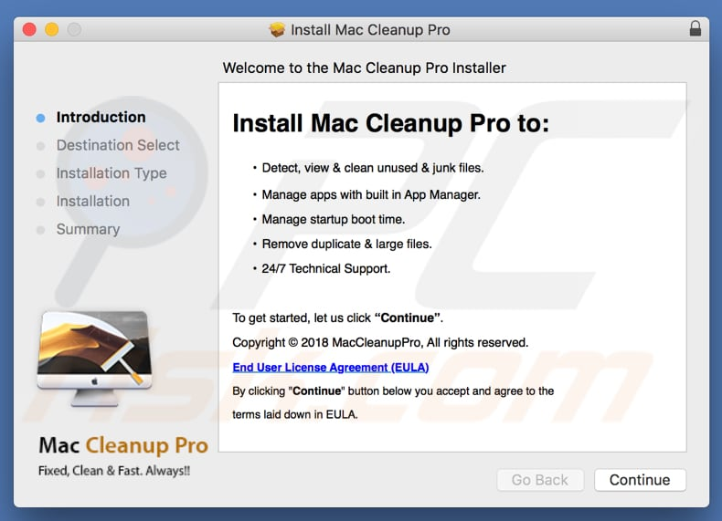 mac cleanup pro installer
