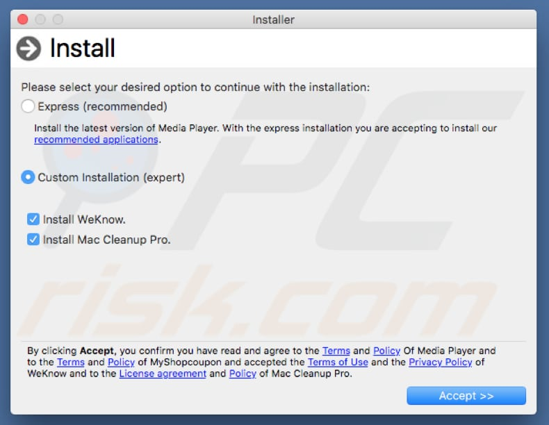 adware installer that displays Bash wants to control System Events pop-up