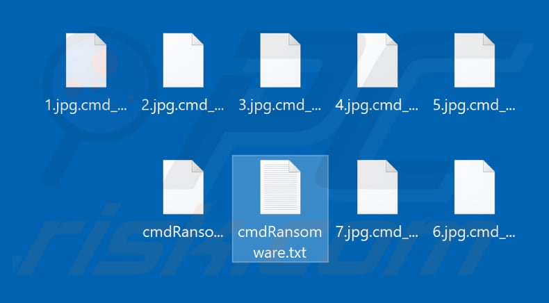 Files encrypted by CmdRansomware