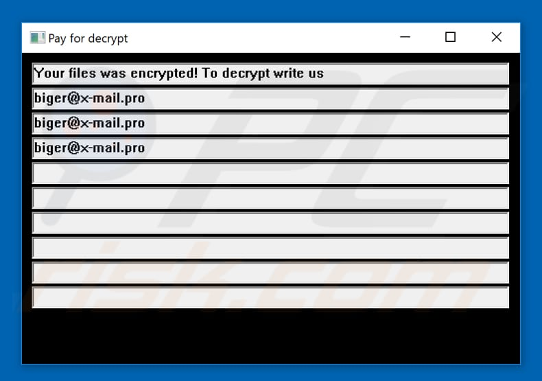 Doubleoffset ransomware pop-up window