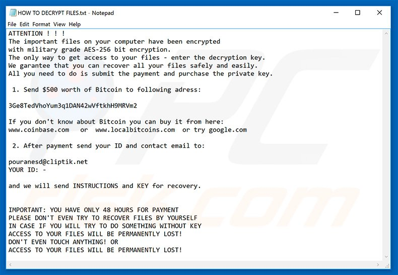 Kali decrypt instructions