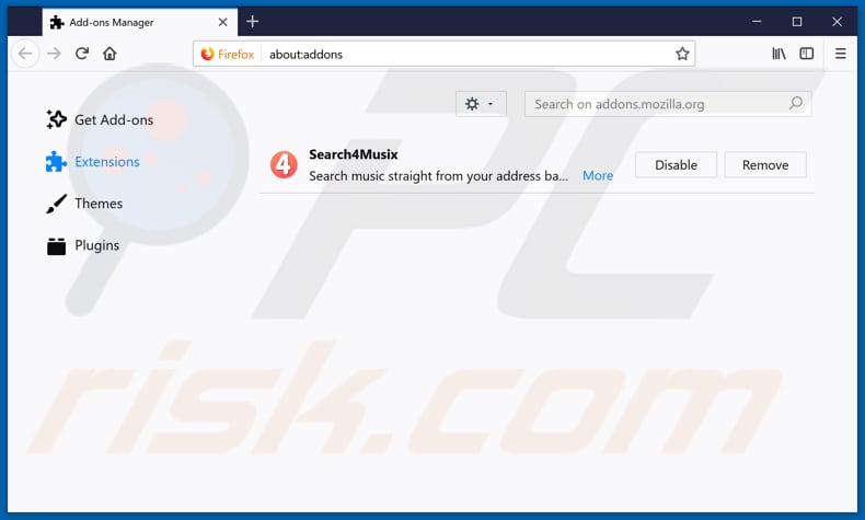 Removing blpsearch.com related Mozilla Firefox extensions