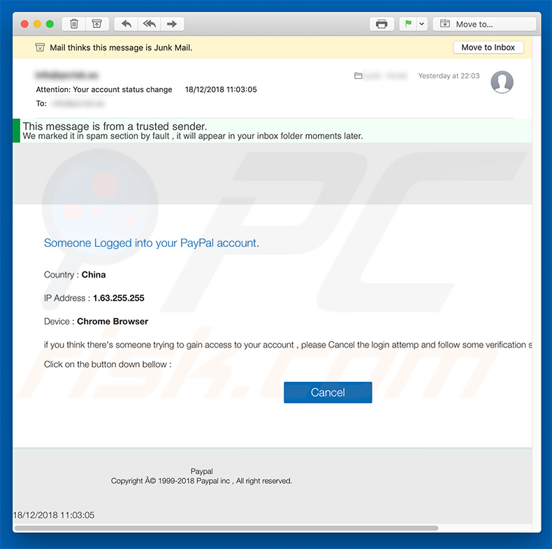 How to remove PayPal Email Virus - virus removal