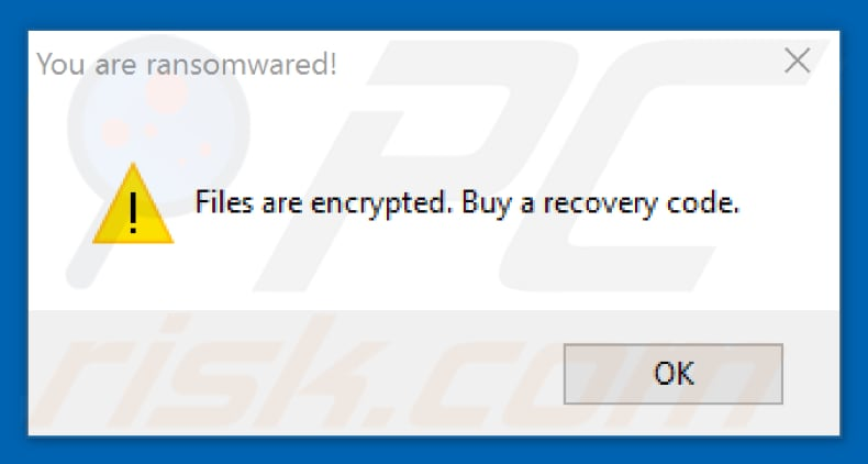 Ransomwared you are ransomwared pop-up window