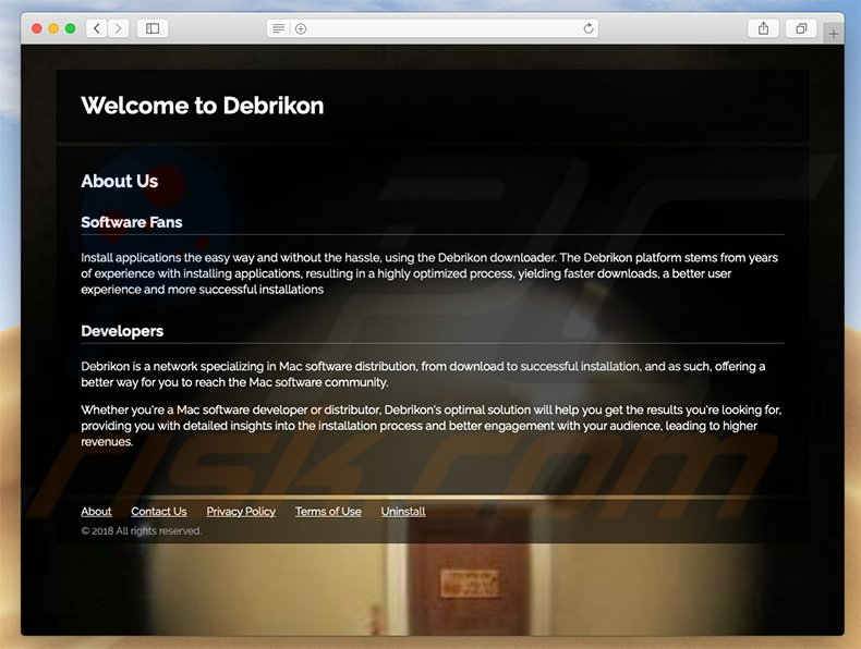 Dubious website used to promote search.debrikon.com