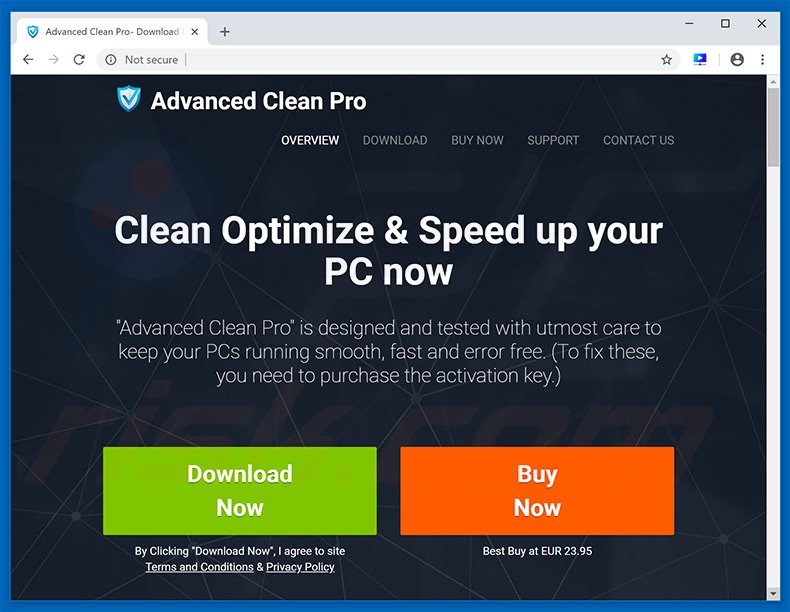 Advanced Clean Pro unwanted application