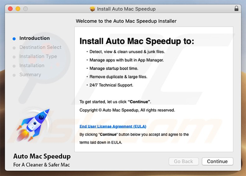 Auto Mac Speedup installer setup