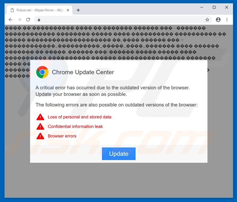 How to remove Chrome Update Center POP-UP Virus - Virus removal