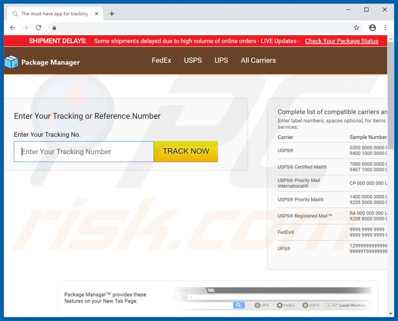 How to get rid of Search hpackage-manager net Redirect