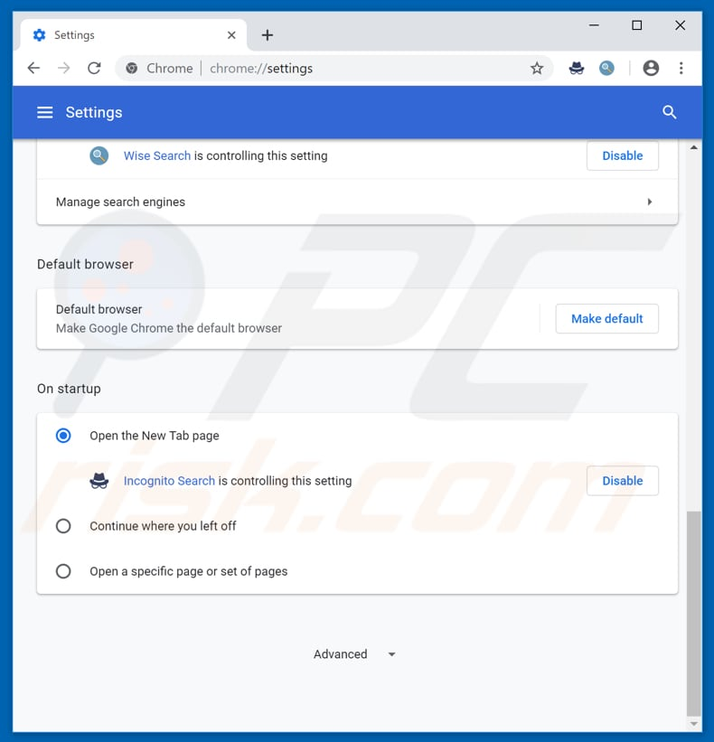 How to get rid of Incognito Search Browser Hijacker - virus