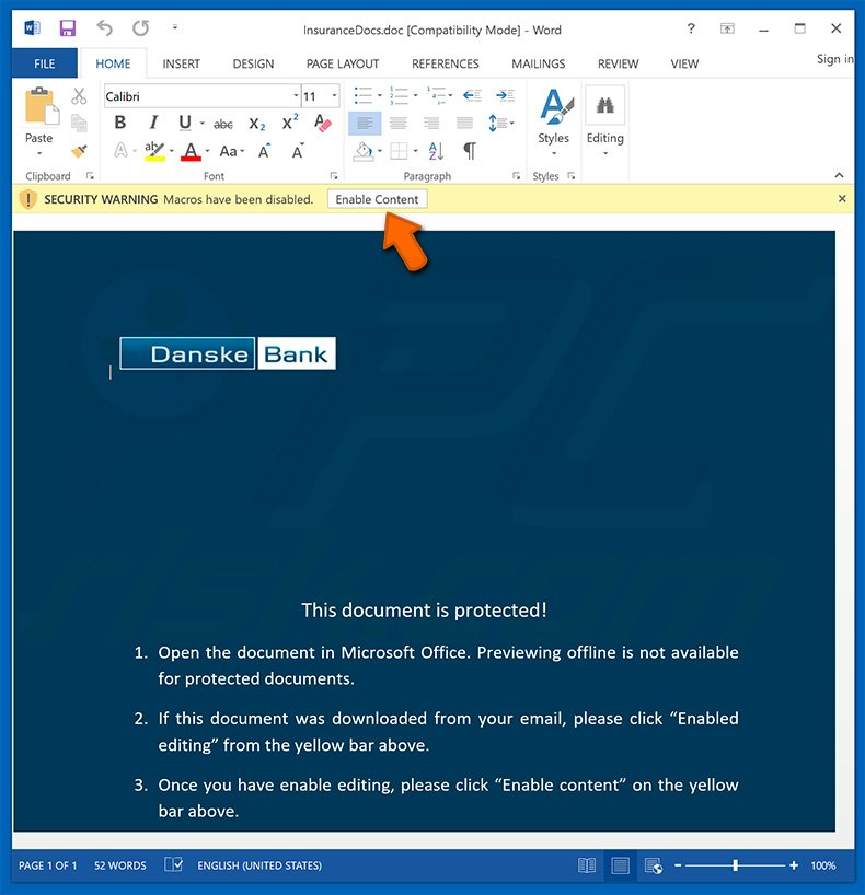 How to remove Macro Malware - virus removal instructions
