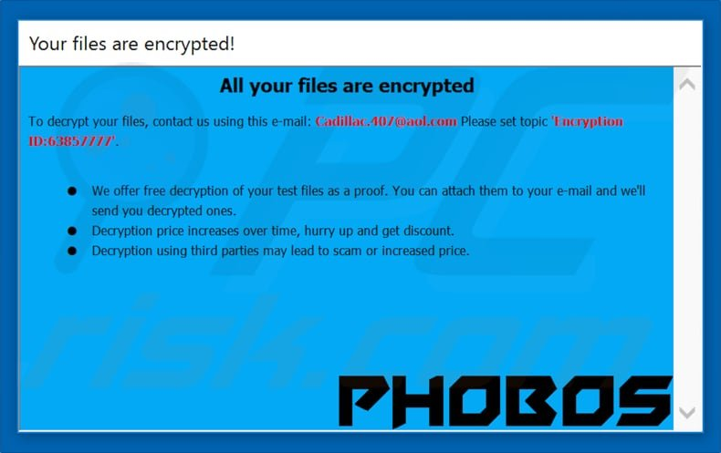 How to remove Phobos Ransomware - virus removal steps (updated)