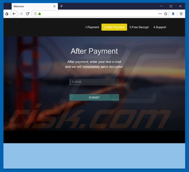 ppam ransomware website after payment part