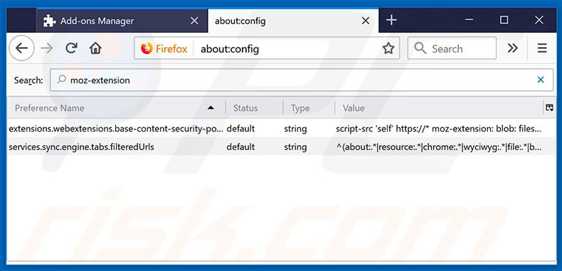 Removing searchsecureprime.co from Mozilla Firefox default search engine