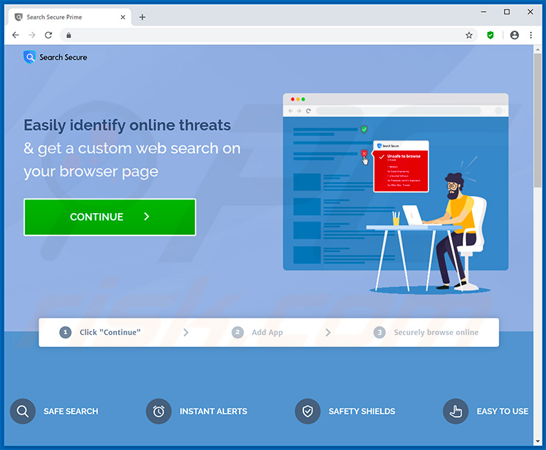 Website used to promote Search Secure browser hijacker