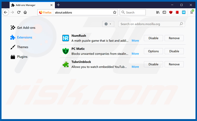 Removing SmartApp ads from Mozilla Firefox step 2