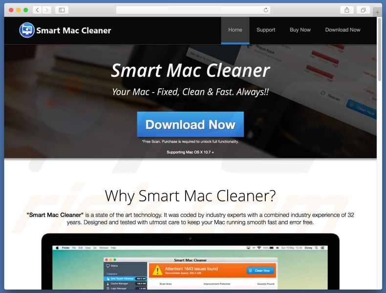 Smart Mac Cleaner scam