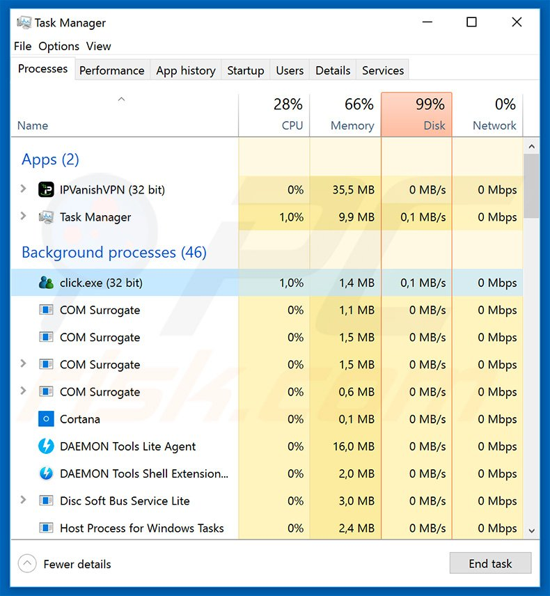 Gozi trojan process in Windows Task Manager