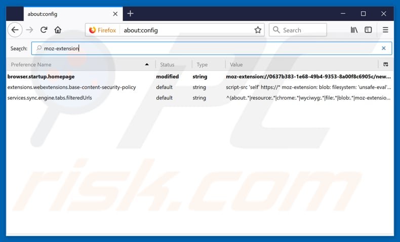 Removing search.hwatchtvnow.co from Mozilla Firefox default search engine