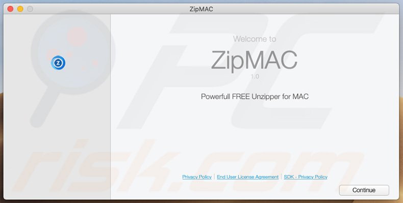 Delusive installer used to promote ZipMAC