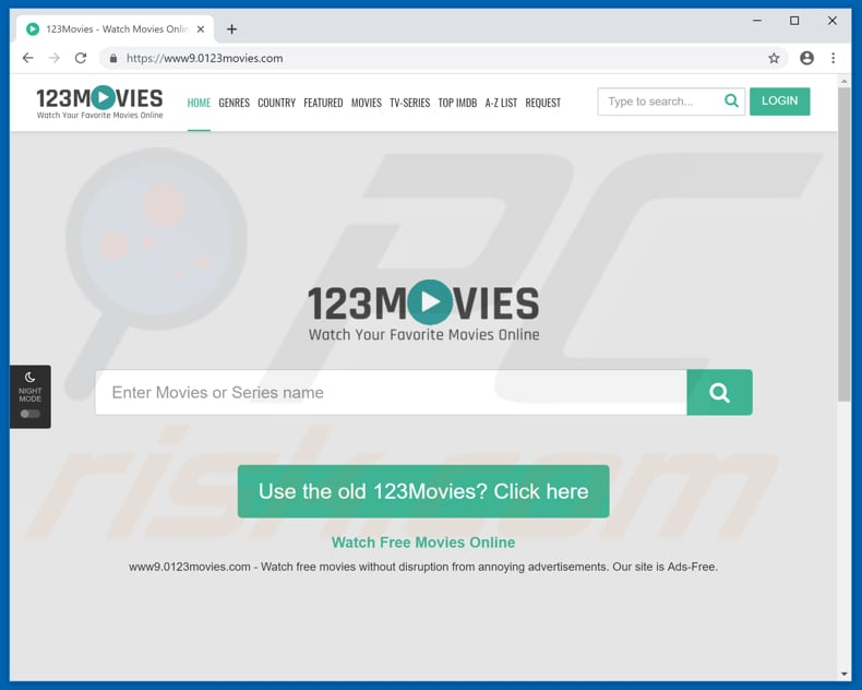 0123movies pop-up redirects