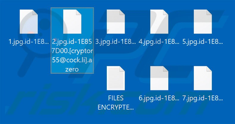 Files encrypted by Azero
