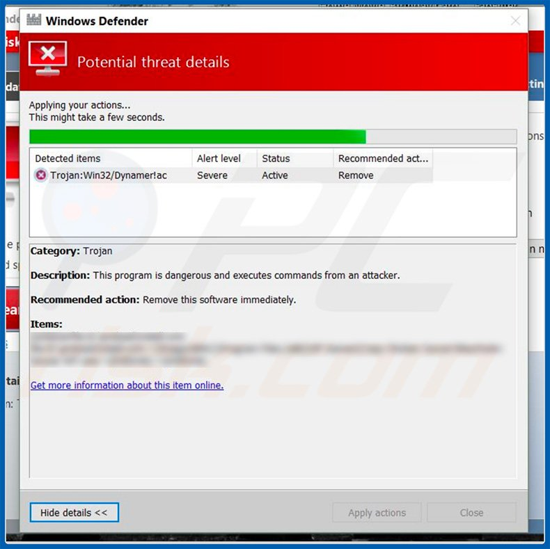 How to remove Dynamer Trojan - Virus removal instructions (Updated)