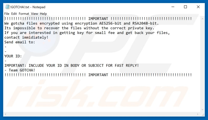 Gotcha decrypt instructions
