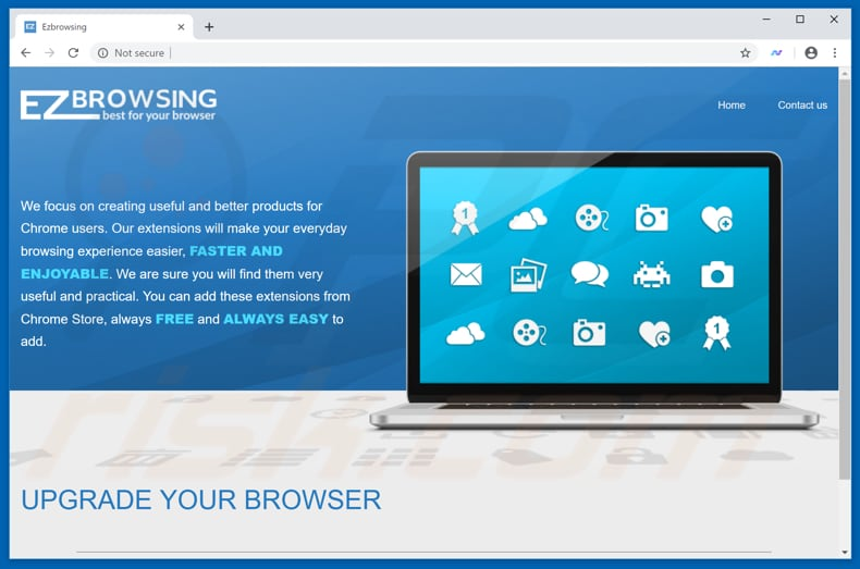 Website used to promote New Browse browser hijacker