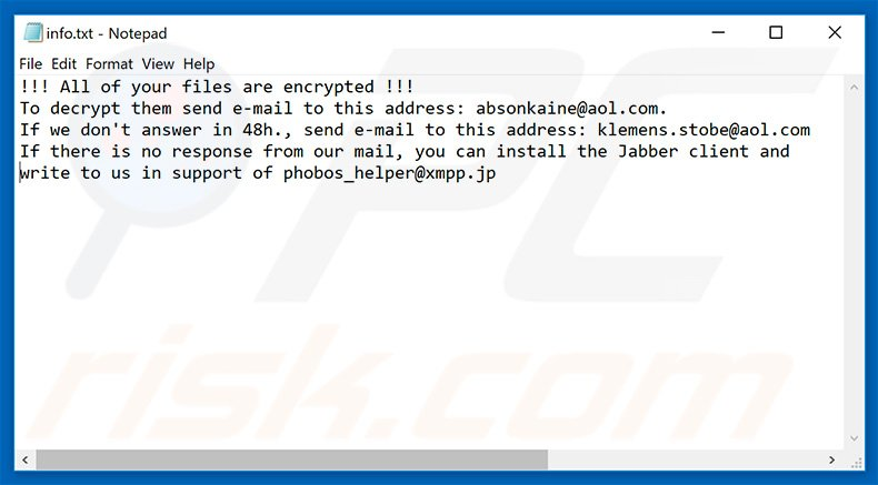 How to remove Phoenix-Phobos Ransomware - virus removal