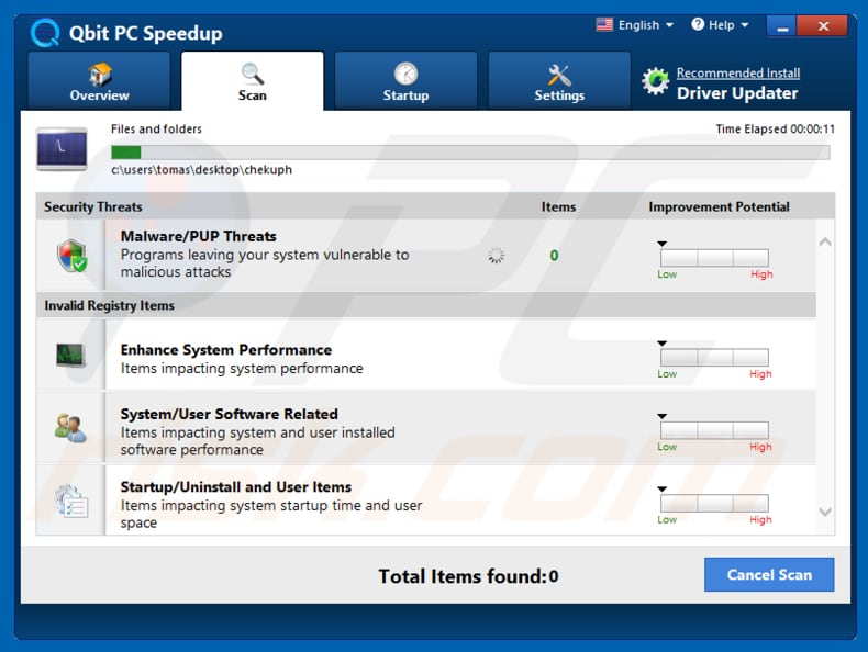 Qbit PC Speedup application