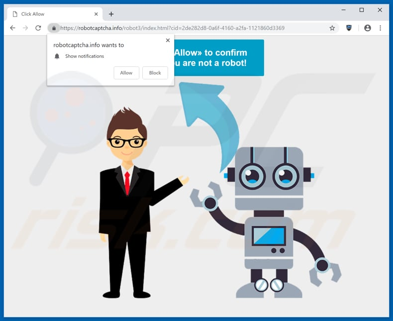 robotcaptcha.info pop-up redirect