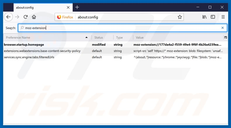 Removing search.hgomaps.co from Mozilla Firefox default search engine