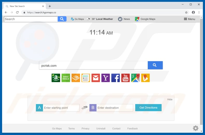 search.hgomaps.co browser hijacker