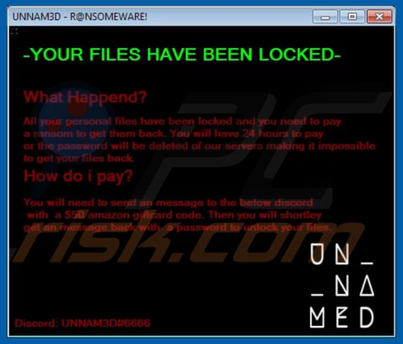 How to remove Unnam3d Ransomware - Virus removal steps (Updated)
