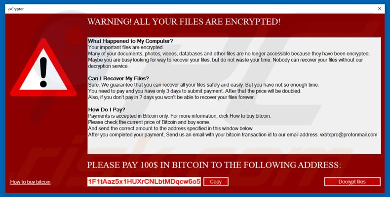 How to remove vxCrypter Ransomware - virus removal steps (updated)
