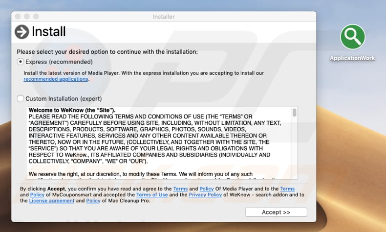 How to get rid of ApplicationWork Adware (Mac) - virus removal guide