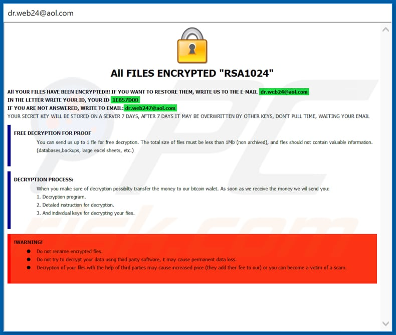How to remove DrWeb Ransomware - virus removal steps (updated)