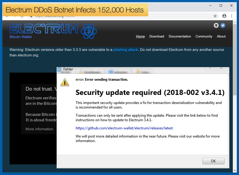 electrum botnets infects 152000 hosts