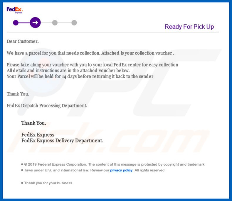 How To Remove Fedex Shipment Email Virus Virus Removal