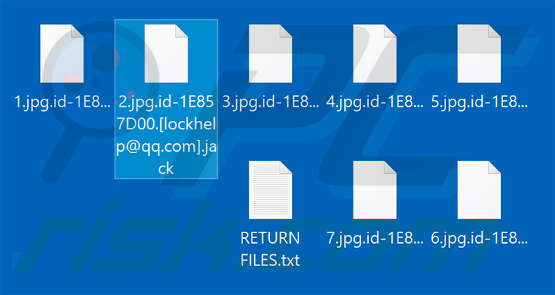 Files encrypted by Jack