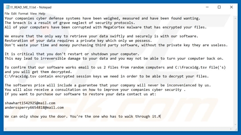 How to remove MegaCortex Ransomware - virus removal steps