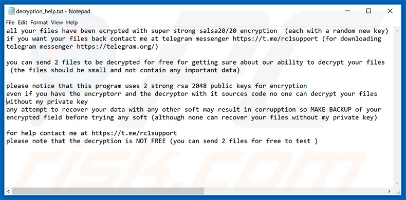 How to remove Recry1 Ransomware - virus removal steps (updated)