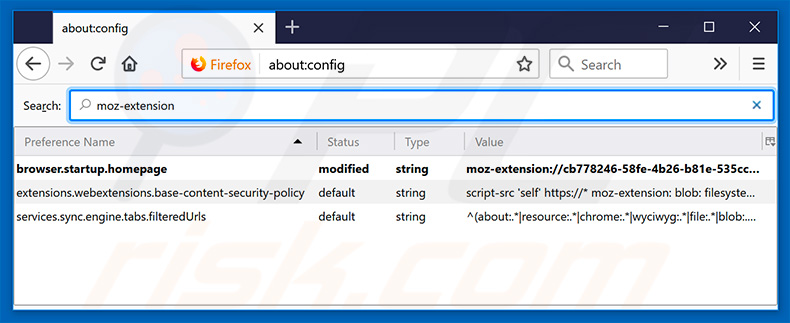 Removing search.hshipmenttracker.co from Mozilla Firefox default search engine