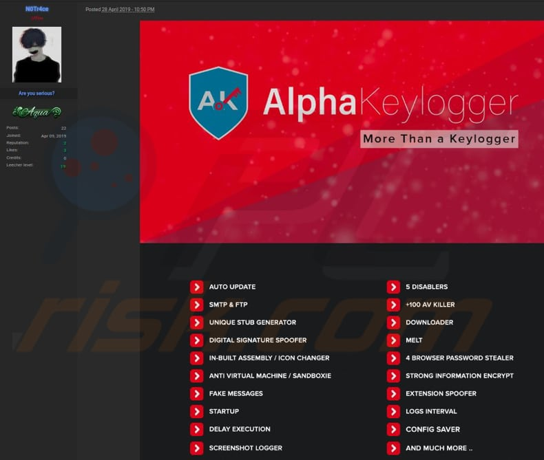 How to remove Alpha KeyLogger - virus removal instructions