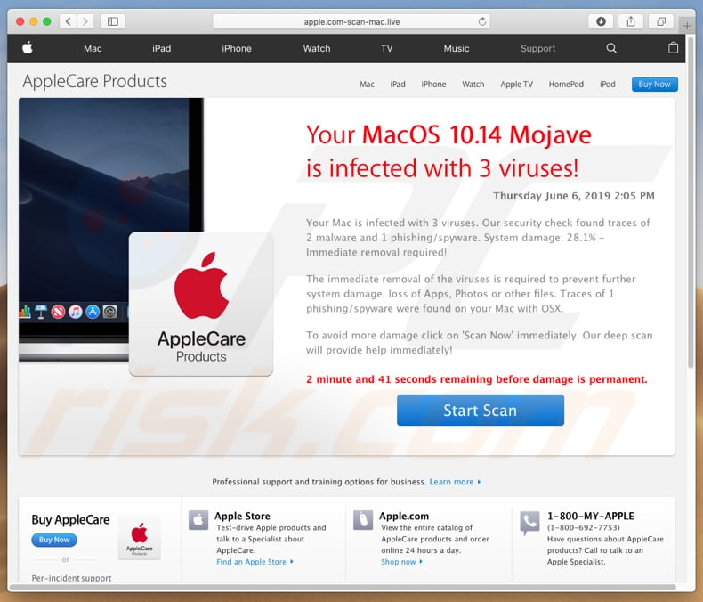 Apple.com-scan-mac[.]live another version