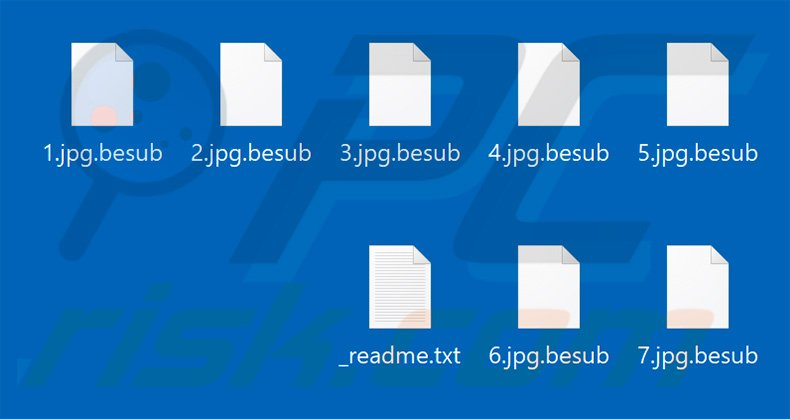 Files encrypted by Besub