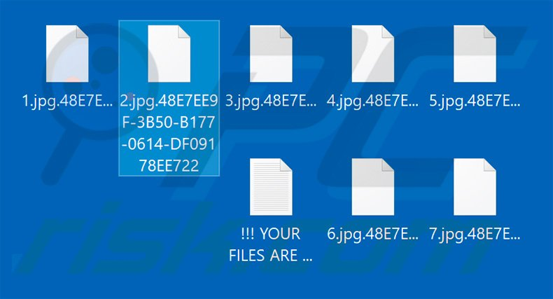 Files encrypted by Buran