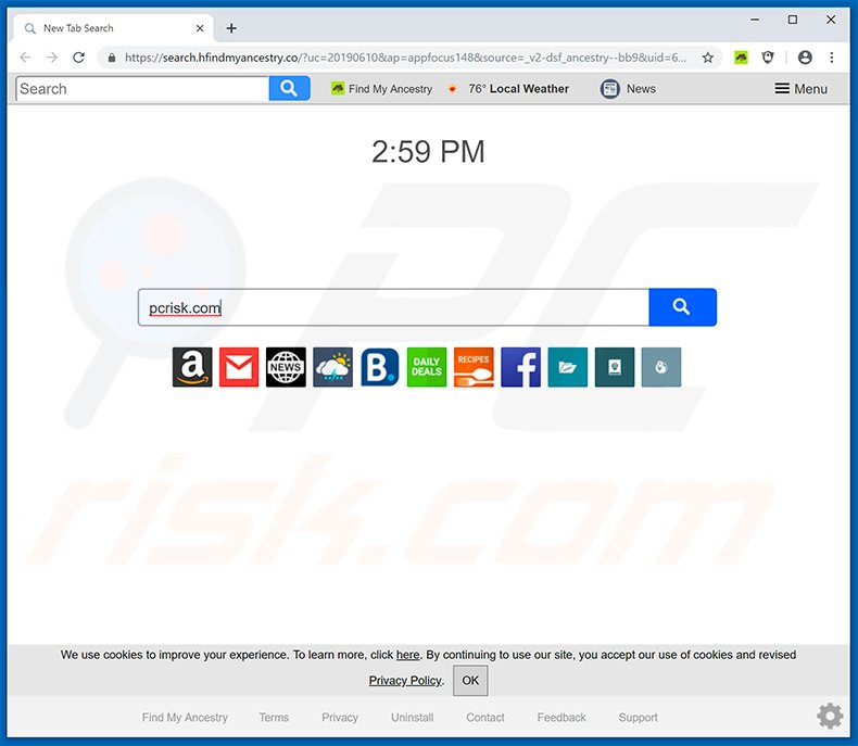 How to get rid of Find My Ancestry Browser Hijacker - virus